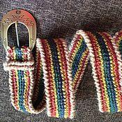 Аксессуары handmade. Livemaster - original item The strap is crocheted of jute. rainbow. Handmade.