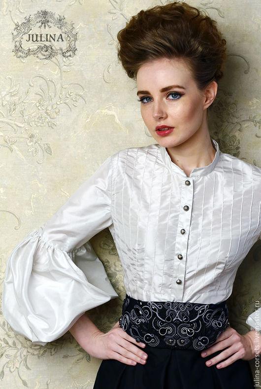 """Блузки ручной работы. Ярмарка Мастеров - ручная работа. Купить Блузка шелковая """"Мелисента"""". Handmade. Серый, блузкаиз шелка"""