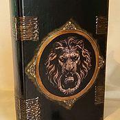 """Для дома и интерьера ручной работы. Ярмарка Мастеров - ручная работа шкатулка книга """"чёрный лев"""". Handmade."""