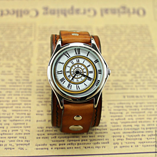 """Часы ручной работы. Ярмарка Мастеров - ручная работа. Купить Часы наручные """"Спираль времени"""". Handmade. Часы, стильные часы"""