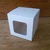 Материалы для творчества ручной работы. Ярмарка Мастеров - ручная работа Коробочка белая Куб с окном. Handmade.