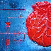 Картины и панно ручной работы. Ярмарка Мастеров - ручная работа декоративное панно RADIOHEART. Handmade.