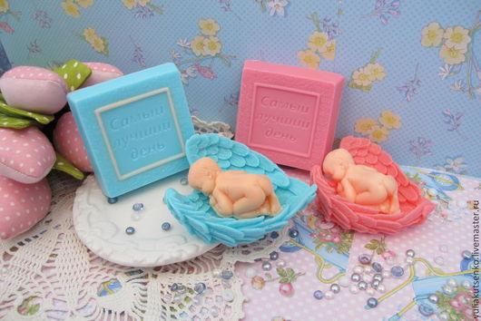 """Подарки для новорожденных, ручной работы. Ярмарка Мастеров - ручная работа. Купить Мыло """"Набор для новорожденного 2"""". Handmade. Голубой"""