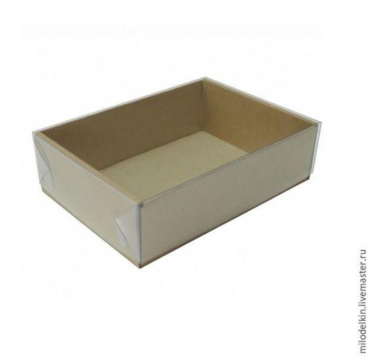Подарочная упаковка ручной работы. Ярмарка Мастеров - ручная работа. Купить Крафт коробочка с прозрачной крышкой. Handmade. Упаковка