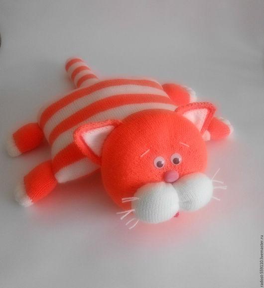 Текстиль, ковры ручной работы. Ярмарка Мастеров - ручная работа. Купить Рыжик подушка-игрушка вязаная. Handmade. Рыжий