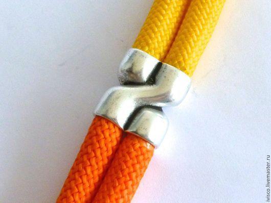 Для украшений ручной работы. Ярмарка Мастеров - ручная работа. Купить СЕРЕБРО 1 шт, ЗОЛОТО 3 шт Коннектор для текстильного шнура 10мм. Handmade.