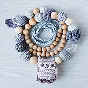 Одежда handmade. Livemaster - original item Slingobusy gray owl. Handmade.