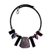 Украшения handmade. Livemaster - original item Necklace choker of the large agate and pyrite. Handmade.