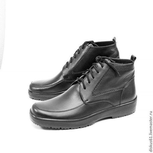 Обувь ручной работы. Ярмарка Мастеров - ручная работа. Купить Ботинки мужские зима М -700. Handmade. Черный