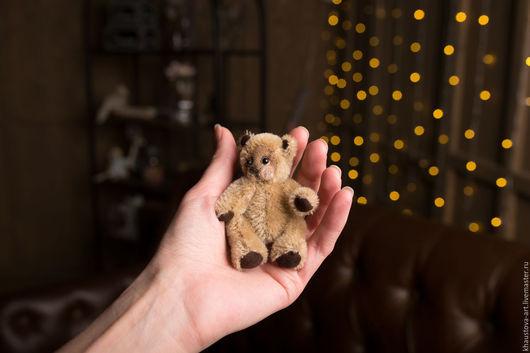 Мишки Тедди ручной работы. Ярмарка Мастеров - ручная работа. Купить Миник. Handmade. Коричневый, талисман, тонировка, ладошечный друг