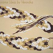 """Аксессуары ручной работы. Ярмарка Мастеров - ручная работа """"Игра цвета"""", плетёный пояс, макраме. Handmade."""