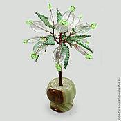 Цветы и флористика handmade. Livemaster - original item Miniature tree of happiness from fluorite in a vase of onyx. Handmade.