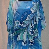 Одежда ручной работы. Ярмарка Мастеров - ручная работа Блузон- Батик``Гармония``-Agua. Handmade.