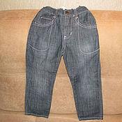 Винтаж handmade. Livemaster - original item Vintage clothing: Black jeans for boy size 104. Handmade.