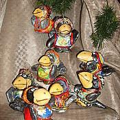 """Подарки к праздникам ручной работы. Ярмарка Мастеров - ручная работа """"Каркуша"""" .. Елочные игрушки из папье-маше. Handmade."""