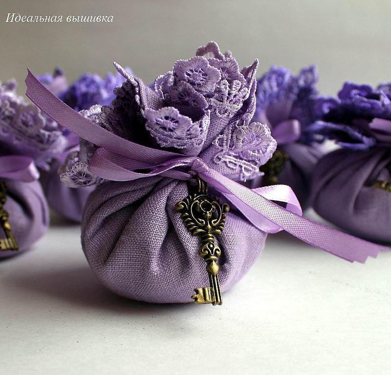 "Linen sachet with lavender "" Ancient key-purple"", Aromatic sachets, Moscow,  Фото №1"
