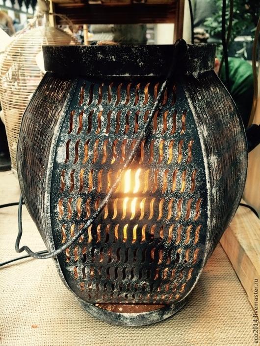 """Освещение ручной работы. Ярмарка Мастеров - ручная работа. Купить Настольная лампа """"Фонарик"""". Handmade. Лампа, природные материалы"""