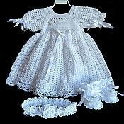 """Работы для детей, ручной работы. Ярмарка Мастеров - ручная работа Крестильное платье """"Торжество"""". Handmade."""