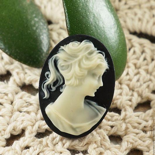 Для украшений ручной работы. Ярмарка Мастеров - ручная работа. Купить Камея Дама классическая ivory 18х25мм (1шт). Handmade.