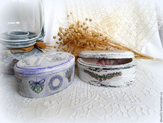 Персональные подарки ручной работы. Ярмарка Мастеров - ручная работа. Купить шкатулка Лаванда в стиле прованс. Handmade.
