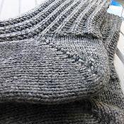 Аксессуары ручной работы. Ярмарка Мастеров - ручная работа Мужские вязаные носки Dark gray. Handmade.