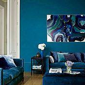 Pictures handmade. Livemaster - original item Deep blue. interior painting. abstraction. Handmade.