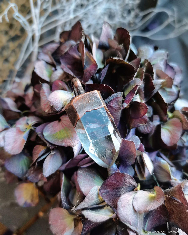 Copper pendant with rock crystal, Pendant, Nizhnij Tagil,  Фото №1