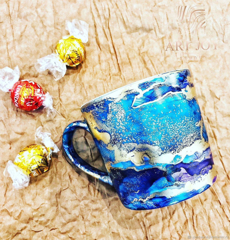 """Кружки и чашки ручной работы. Ярмарка Мастеров - ручная работа. Купить Кружка с декором """"Фантазия"""". Handmade. Керамика, чашка для чая"""
