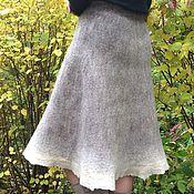 Одежда ручной работы. Ярмарка Мастеров - ручная работа Юбка валяная Иней на сухой траве. Handmade.
