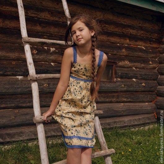 HAPPY kids Collection Платье-сарафан `Черничка` Американский хлопок Дизайнер Елена Клюева