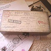 """Для дома и интерьера ручной работы. Ярмарка Мастеров - ручная работа купюрница-шкатулка """"письма памяти"""" путешествие. Handmade."""