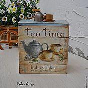 """Для дома и интерьера ручной работы. Ярмарка Мастеров - ручная работа Короб """"Tea time"""". Handmade."""