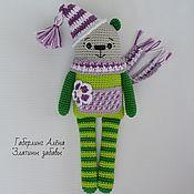 Куклы и игрушки handmade. Livemaster - original item Bear Theme-toy with Squeaker, crochet. Handmade.