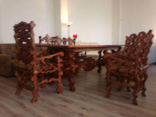 Мебель ручной работы. Ярмарка Мастеров - ручная работа. Купить Стол из массива. Handmade. Стол, коричневый