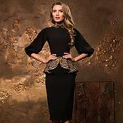 """Платья ручной работы. Ярмарка Мастеров - ручная работа """"Матрёшка"""" с баской , платье в отделке А-ля Русс. Handmade."""