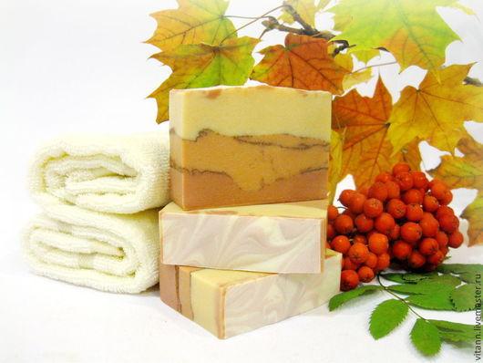 """Мыло ручной работы. Ярмарка Мастеров - ручная работа. Купить """"Осенний лист"""" натуральное мыло. Handmade. Мыло с нуля, осень"""