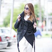 Одежда handmade. Livemaster - original item Coat, Black coat, Cashmere coat, Fashion coat EUG. Handmade.