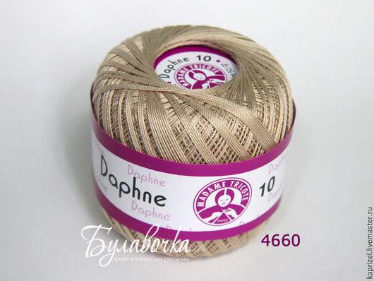 Вязание ручной работы. Ярмарка Мастеров - ручная работа. Купить Пряжа Daphne 10 Madame Tricote (хлопок). Handmade. Пряжа