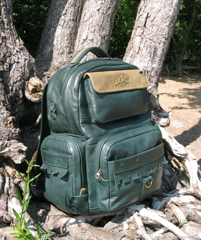 """Men's leather backpack briefcase """"Robin Hood"""", Backpacks, St. Petersburg,  Фото №1"""