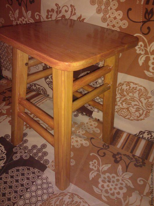 """Мебель ручной работы. Ярмарка Мастеров - ручная работа. Купить Табурет """"Рябиновая Звезда""""из массива. Handmade. Рябиновый, табуретка"""