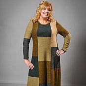 Одежда ручной работы. Ярмарка Мастеров - ручная работа Вязаное платье в стиле Пэчворк. Handmade.