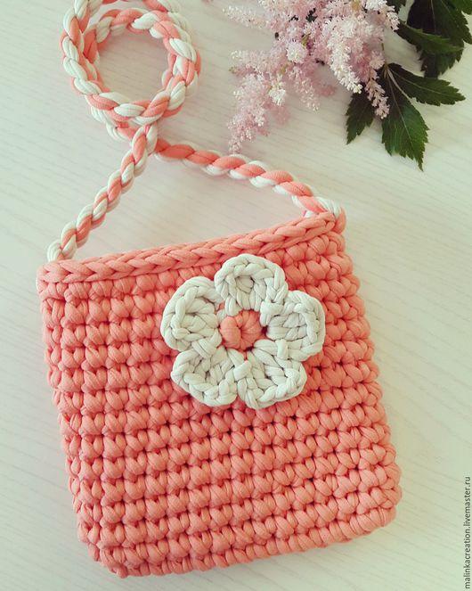 Вязаный детский клатч Coral Beauty от Malinka_Creations