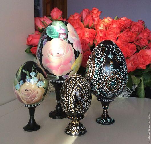 Яйца ручной работы. Ярмарка Мастеров - ручная работа. Купить Декоративные яйца. Handmade. Разноцветный, ручная роспись, one stroke