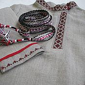 Русский стиль ручной работы. Ярмарка Мастеров - ручная работа Рубашка-косоворотка для мальчика. Handmade.