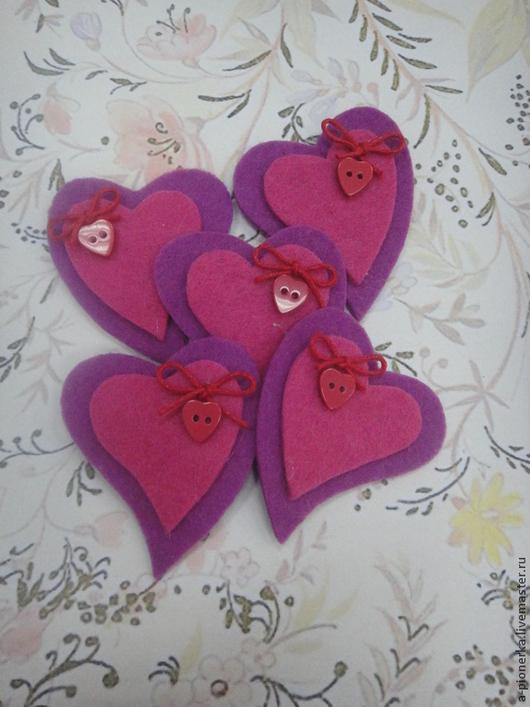 Подарки для влюбленных ручной работы. Ярмарка Мастеров - ручная работа. Купить Сердечки. Handmade. Розовый, подарок на 8 марта, ферт