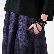 Одежда ручной работы. Ярмарка Мастеров - ручная работа Валяная юбка Мои черничные ночи. Handmade.