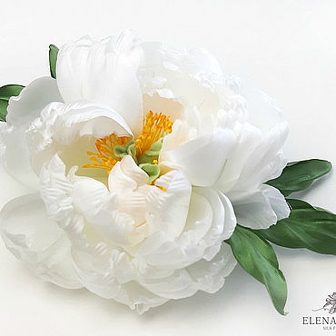 Flowers and floristry handmade. Livemaster - original item Silk flowers. Brooch-flower Peony