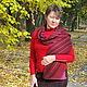 шарф- снуд трансформер идеально подходит в комплект к работе- юбка шерстяная, вязаная, тёплая , озорная - `Перевёртыш`