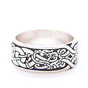 Украшения handmade. Livemaster - original item Ring with Scandinavian ornament. Handmade.
