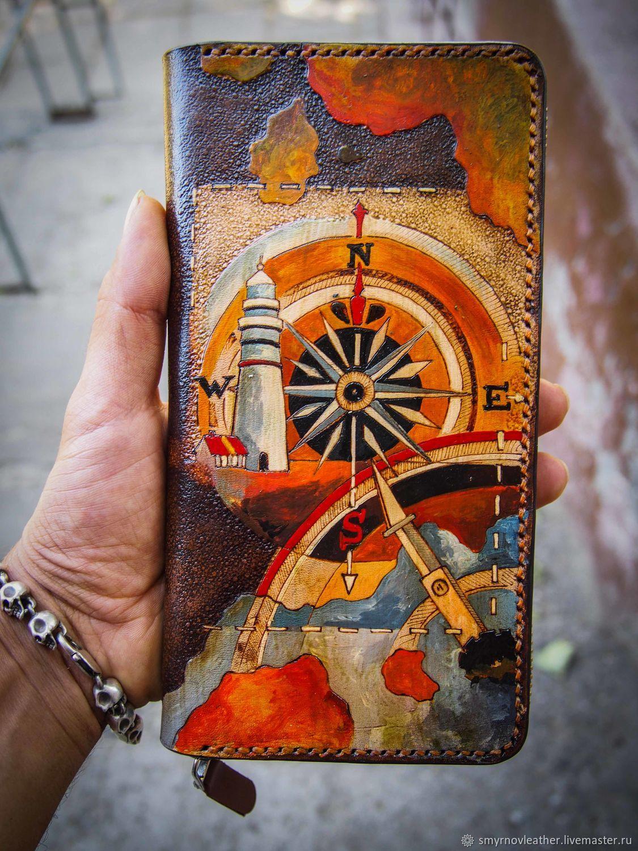 Кожаный кошелек на молнии маяк, Кошельки, Одесса,  Фото №1